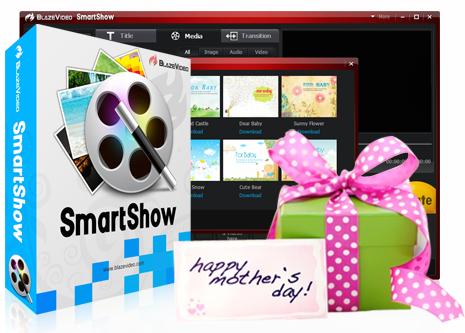 BlazeVideo SmartShow gratuit pour la fête des mères