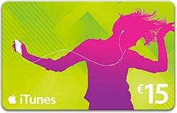 Carte iTunes d'une valeur de 15€