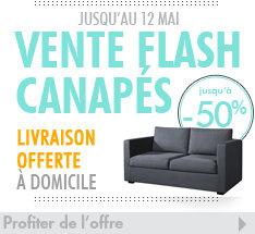 -50% de remise sur les canapés et livraison gratuite