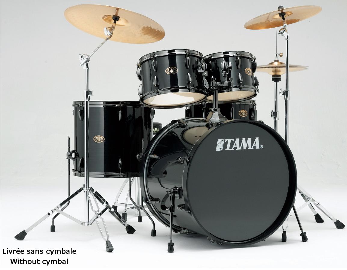 Batterie acoustique Tama Imperialstar Hyperdrive - Black Nickel édition