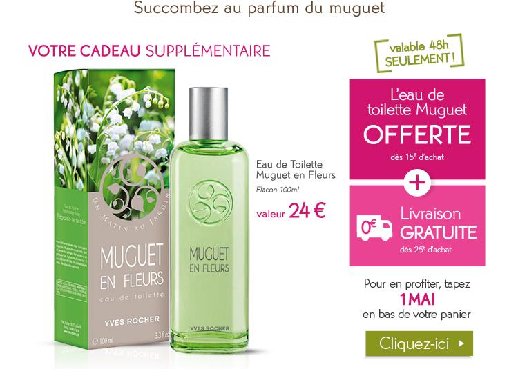 1 eau de toilette Muguet en fleur offerte dès 15€ d'achats