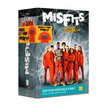 Coffret DVD Misfits 4 saisons + T-shirt