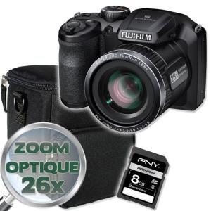 Bridge zoom opt x26  Fujifilm S4600 Noir + saccoche + Carte SD 8Go