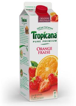 Jus d'orange fraise Tropicana 1L 100% remboursé via ODR
