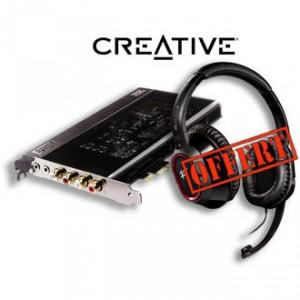 Carte son CREATIVE Sound Blaster X-Fi Titanium HD + Casque gaming HS980 offert
