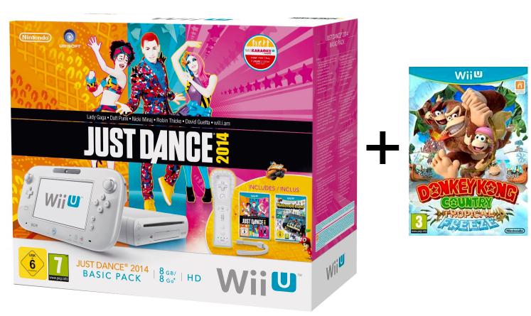 Pack Wii U Just Dance 2014 + Nintendo Land + Donkey Kong