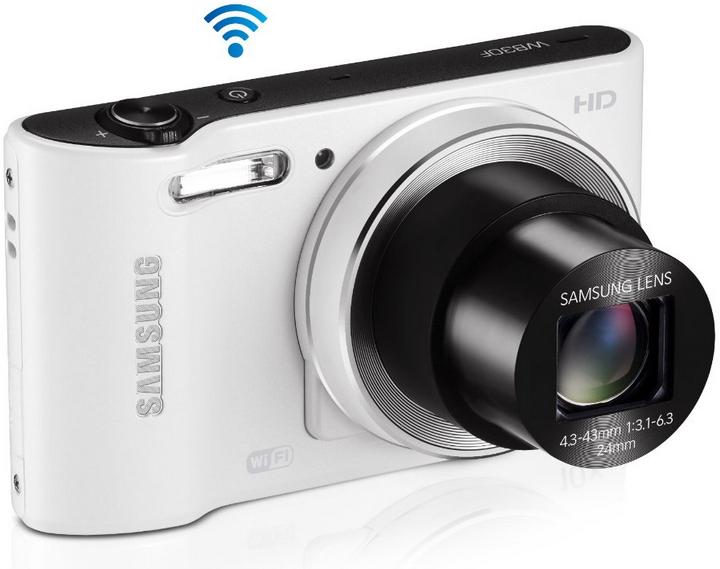 """Appareil Photo Compact Samsung WB30F Wifi 3"""" Blanc"""