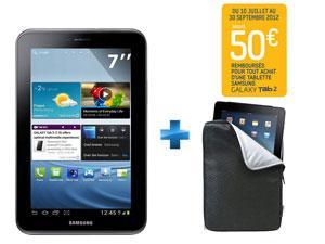 SAMSUNG Galaxy Tab 2 - 7'' - Wi-Fi - 8 Go - Silver + Housse Port Designs (avec ODR 50€)
