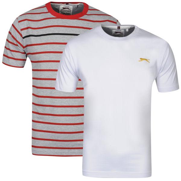 Lot de 2 tee-shirts Slazenger (Taille S à XL)