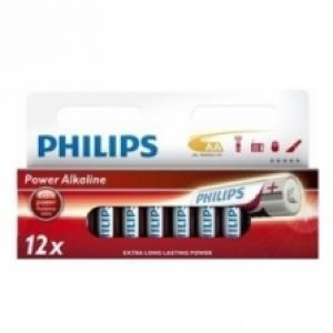 Lots de 12 piles alcalines Philips Powerlife AA