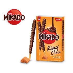 2 paquets de Mikado King saveur caramel