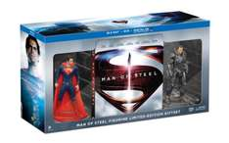 Coffret Blu-ray Man of Steel avec deux figurines Import US Zone All