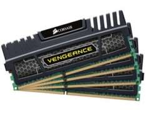 Mémoire PC Corsair Vengeance 32Go (4 x 8 Go) - DDR3-1600 - PC3-12800 - CL10