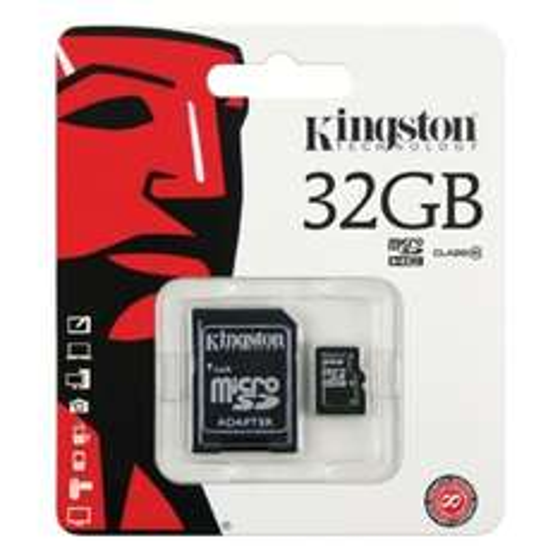 Carte microSDHC kingston 32GO Classe 10 + Adaptateur SD