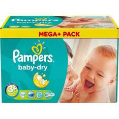 Couches Baby Dry mega+ pampers (50% sur carte)
