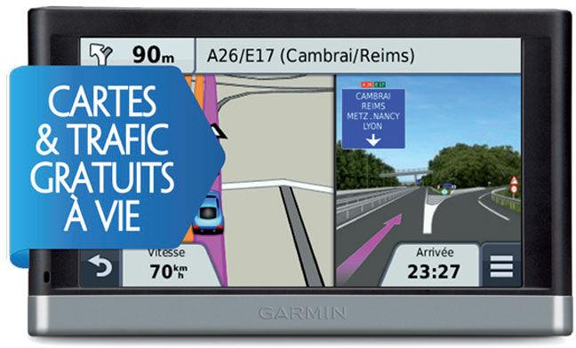 GPS Garmin Nüvi 2547 LMT WE Ecran 5'' - MAJ cartes et trafic  gratuites à vie
