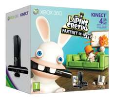 Pack Xbox 360 4Go + Kinect + Lapins Crétins + Kinect Adventures