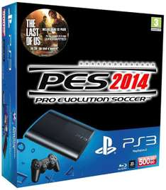 Console Sony PS3 500 Go avec PES 2014 et The Last Of Us