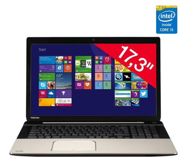 "PC portable 17,3"" Toshiba Satellite L70-B-11H - Intel Core i5-4200U 1,6 GHz, 8 Go RAM, 750 Go ( ODR 100€ )"