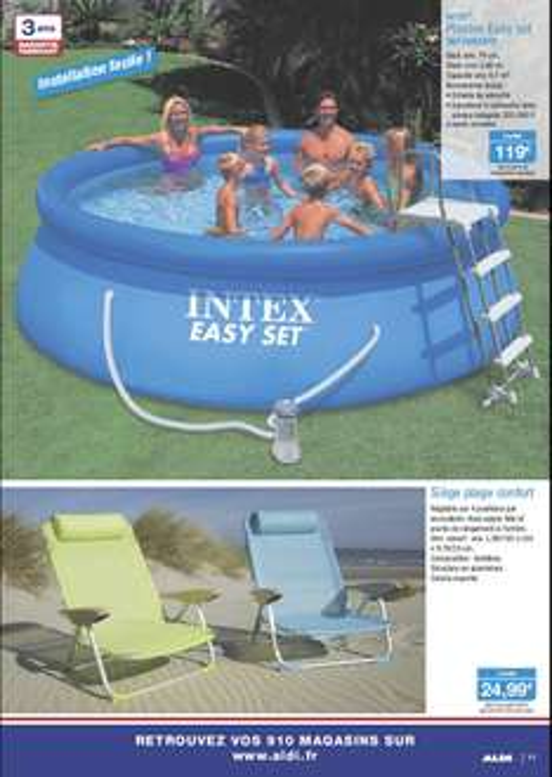 A partir du 18/06 : Piscine Intex Easy Set