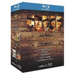 Coffret 5 Blu-Ray Grands Classiques Western - La Conquête De L'ouest + Pale Rider + Rio Bravo + La Horde Sauvage + La Prisonnière Du Désert - Blu-Ray