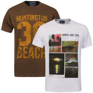 Lot de 2 T-shirts imprimés (S uniquement)
