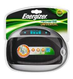 Chargeur Universel Energizer à écran LCD (AA/AAA/C/D/9V)