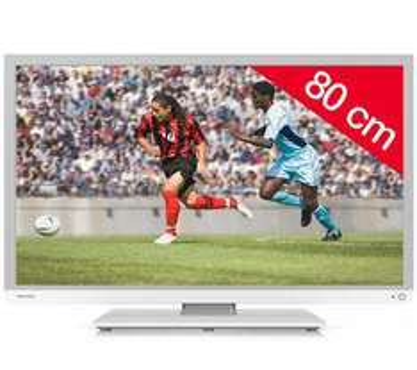 "Téléviseur 32"" LED Toshiba 32W1334 - 1366 x 768 - blanc"