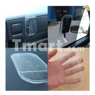 Pad anti-glisse adhésif et réutilisable silicone transparent