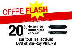 -20% sur tous les lecteurs DVD et Blu-Ray Philips