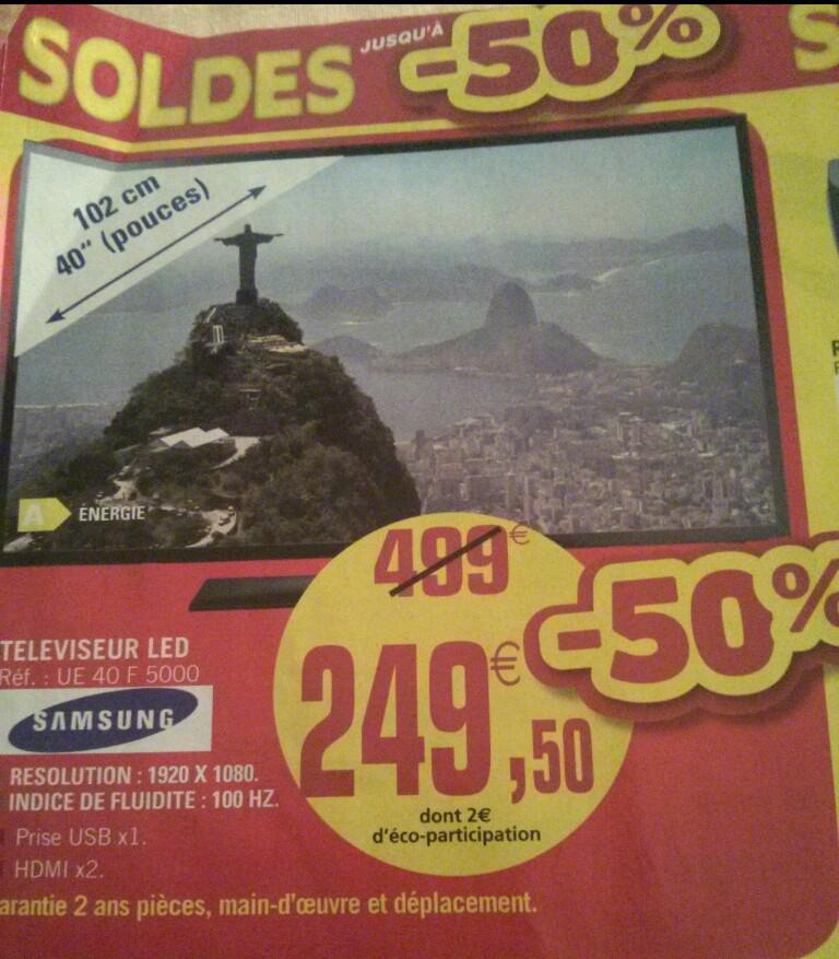 "TV LED 40"" Samsung UE40F5000"