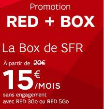 [Clients SFR RED] Abonnement mensuel Box