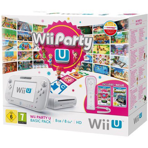 Console Nintendo Wii U 8 Go + Wiimote + Wii Party + NintendoLand