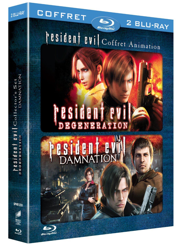 Coffret Blu-ray Resident Evil: Damnation + Degeneration