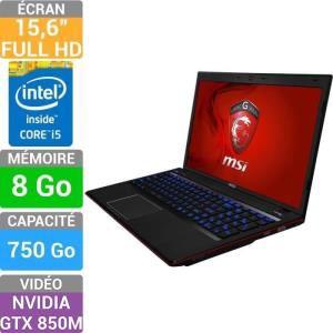 "PC portable 15"" MSI GE60 2PL-094FR - Core i5 4200H, 8 Go RAM , GTX 850M"