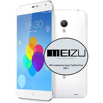 Smartphone Meizu MX3 Blanc/Noir (50€ ODR)
