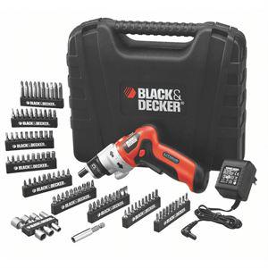 Black & Decker Tournevis Lith 3,6V + coffret 98 accessoires