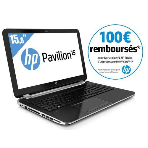 """[MAJ] PC portable 15"""" HP Pavilion 15-N227SF - i7-4500U (avec ODR de 100€)"""