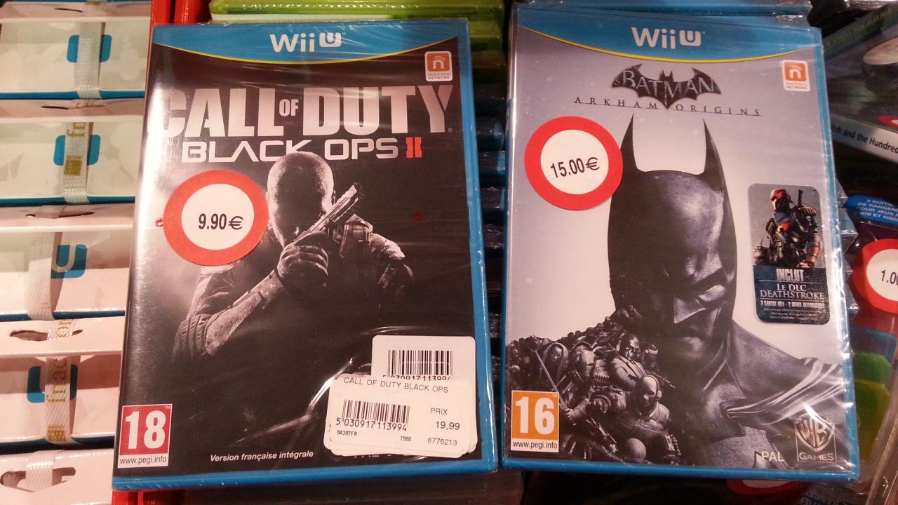 Batman Arkham Origins à 15€ et Call of Duty Black Ops 2 sur Wii U