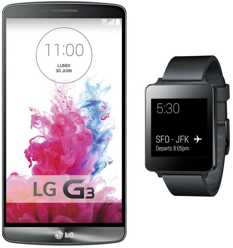 Smartphone LG G3 + Smartwatch G Watch