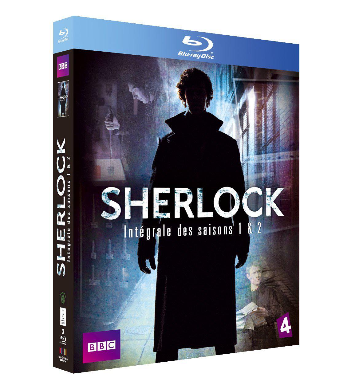 Coffret Blu-ray Sherlock Saisons 1 et 2