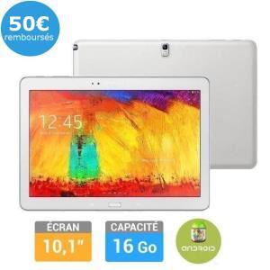 """Tablette Samsung Galaxy Note 10"""" Blanc - 2014 (avec ODR 100€)"""