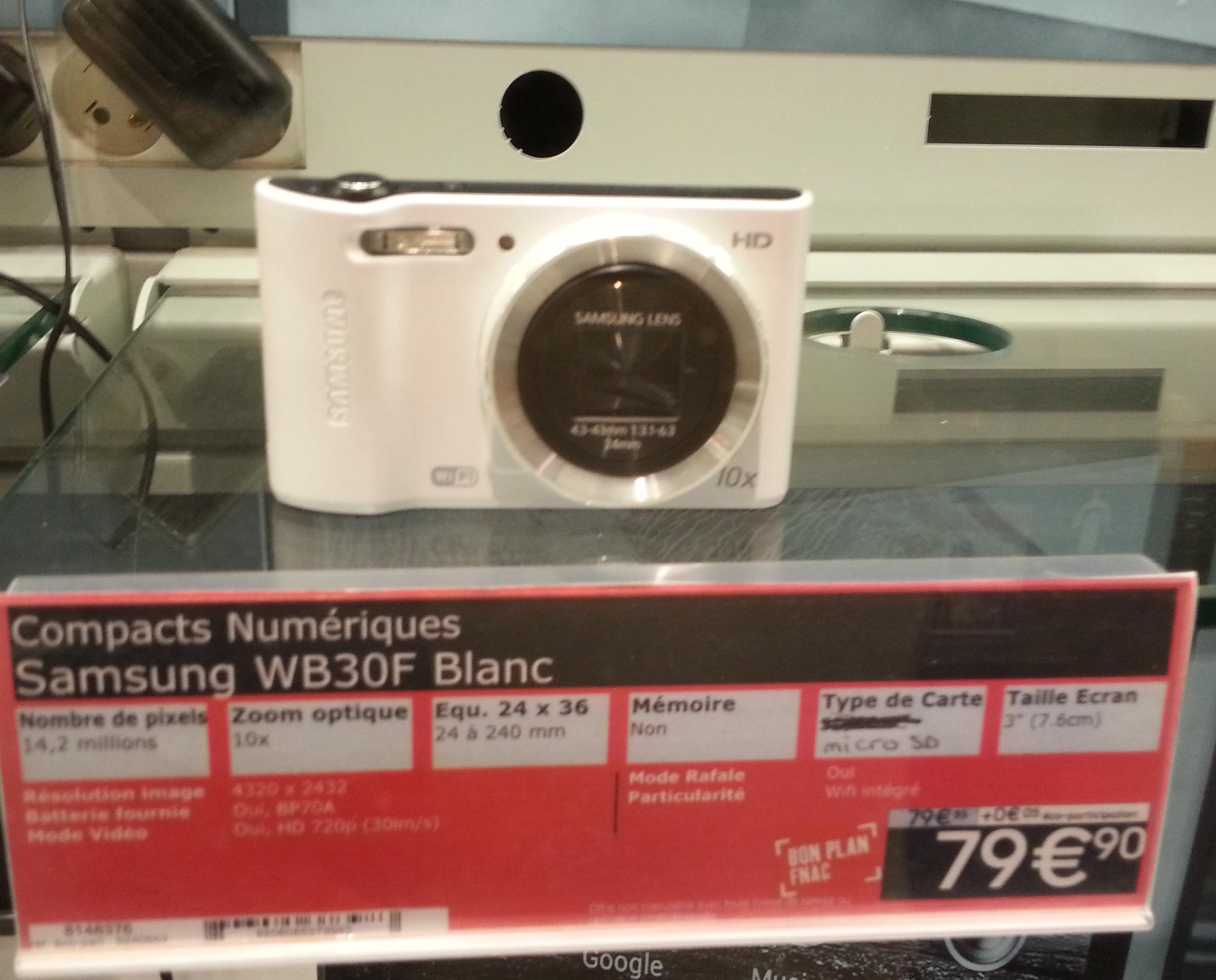 Compact Samsung WB30F - Blanc
