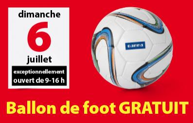 1 ballon de foot gratuit