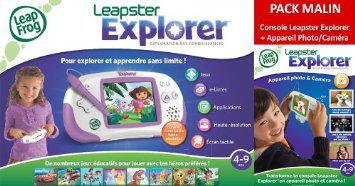 Jeu Leapfrog Leapster Explorer + Caméra - Rose (Jeu Éducatif et Scientifique)