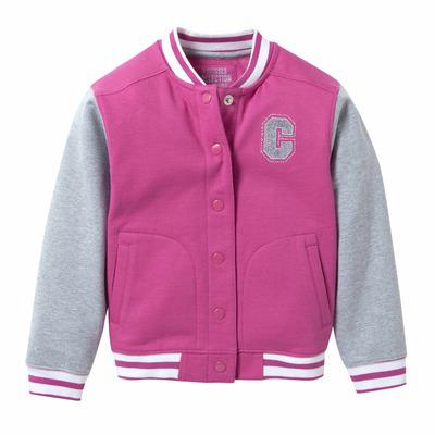 Sélection de blousons / vestes enfants en promo  - Ex : Blouson molleton teddy rose et gris