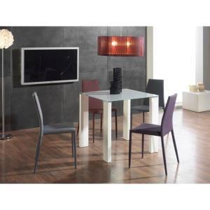 Table carrée Leila 80x80cm - Blanc