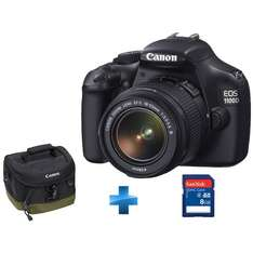 Appareil photo reflex Canon EOS 1100D + EF-S 18-55mm f/3,5-5,6 III - CMOS 12 MP - LCD 2,7'' - Vidéo HD