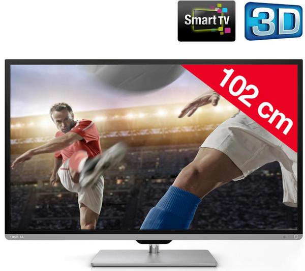 """Téléviseur LED 40"""" Toshiba 40L7331DG - 3D Smart TV"""
