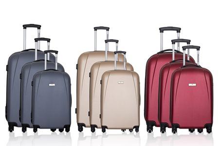 set de 3 valises platinium